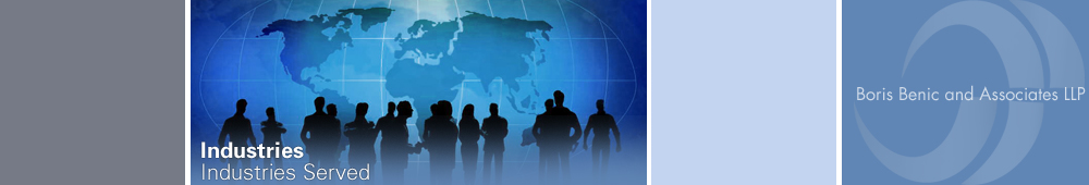 Industries Served - Boris Benic and Associates LLP - Certified Public Accountants and Consultants - Garden City, Long Island, New York